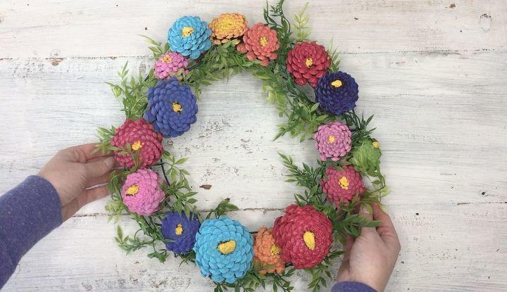 pinecone zina wreath