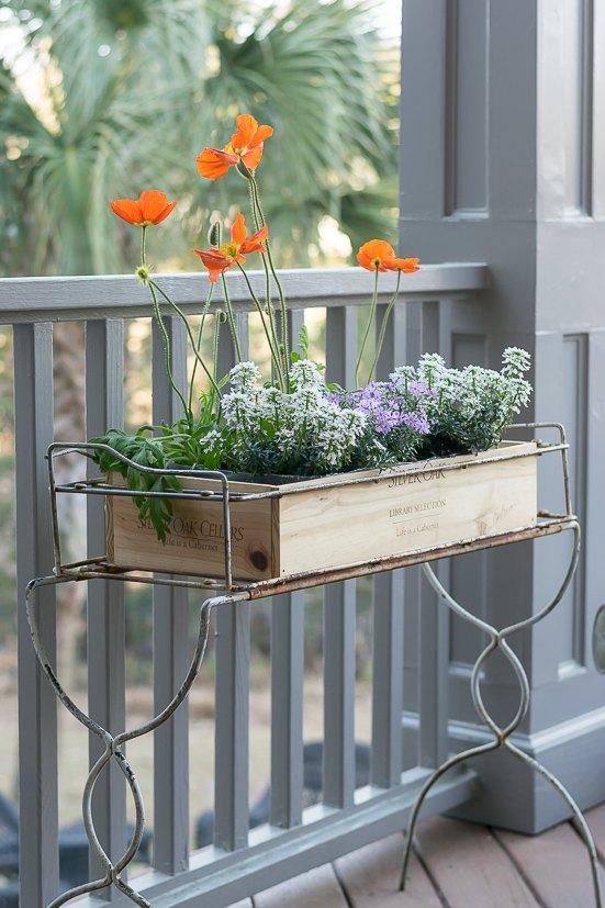 wine crate planter box