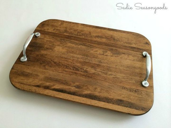 s transform old cutting boards into these 13 nifty items, Polish them into pretty rustic trays