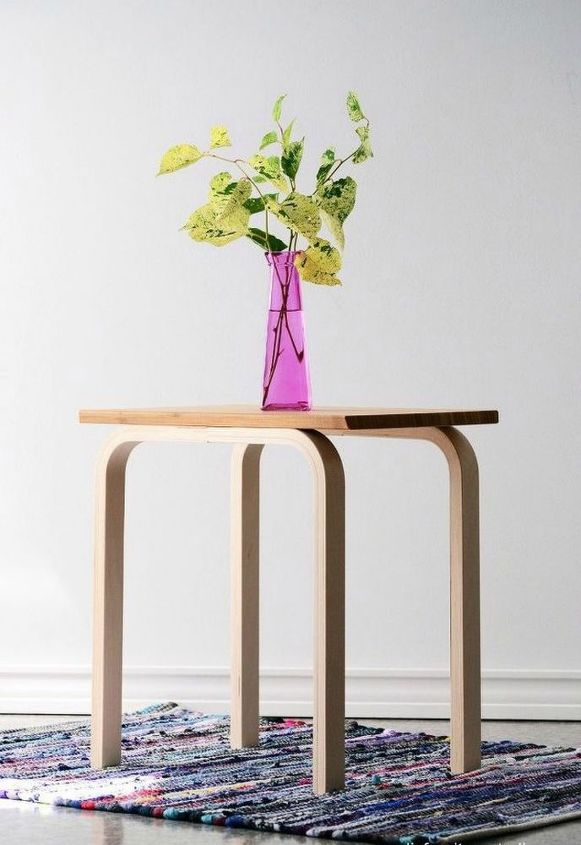 s transform old cutting boards into these 13 nifty items, Assemble them into funky side tables