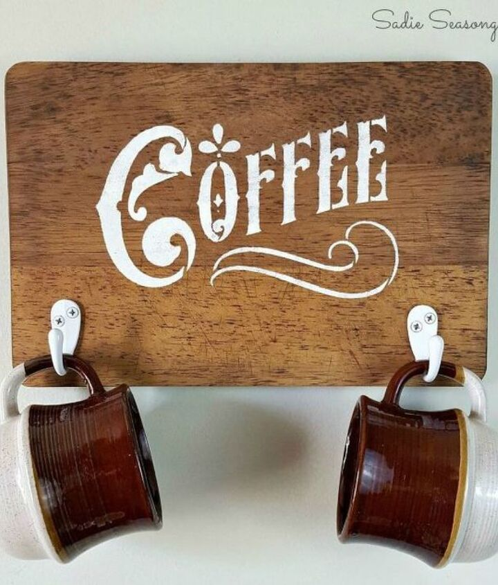 s transform old cutting boards into these 13 nifty items, Redo them as coffee mug holders