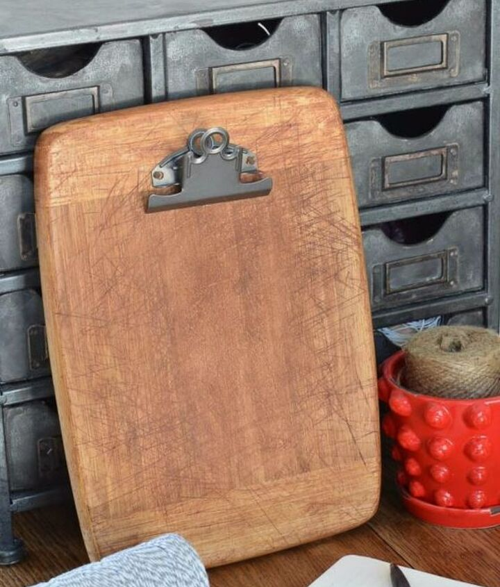 s transform old cutting boards into these 13 nifty items, Remake them as rustic clipboards