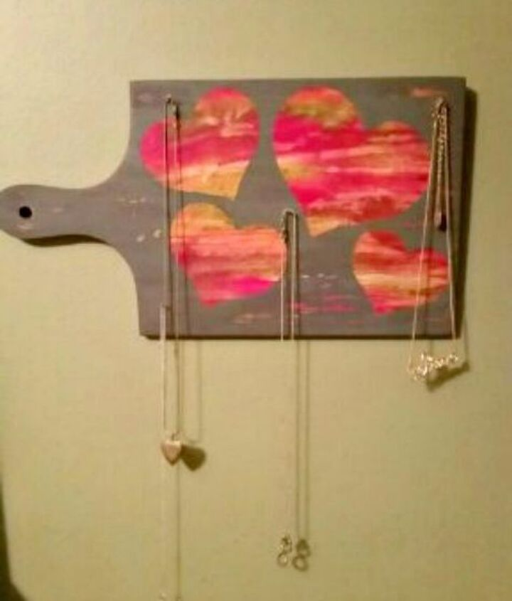 s transform old cutting boards into these 13 nifty items, Reimagine them as hanging jewelry organizers