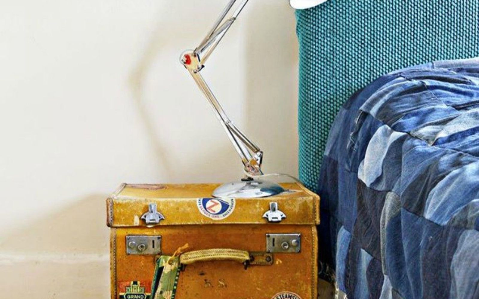 s don t throw out your old suitcase before you see these 15 clever ideas, Turn it into a funky side table