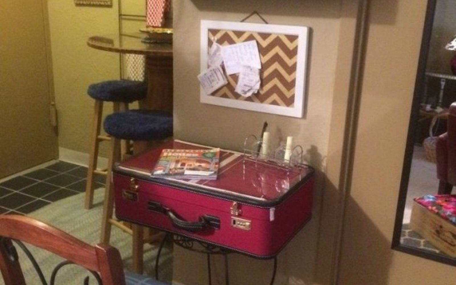 s don t throw out your old suitcase before you see these 15 clever ideas, Repurpose it into a chic desk