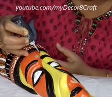 diy painting room and wall decor how to paint a terracotta mask