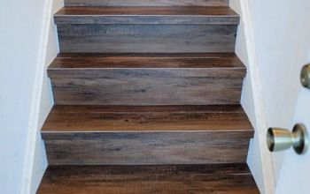 Great Solution:  Wood Look Vinyl Tile on a Stair