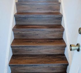 Great Solution Wood Look Vinyl Tile On A Stair ...