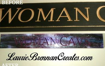 """My """"Woman Cave"""" Sign Updated With Unicorn SPiT and Epoxy"""