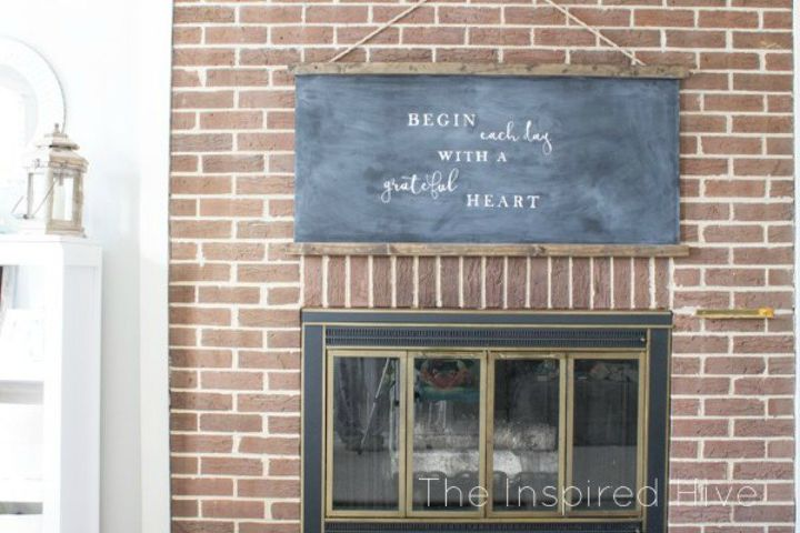 s turn anything into a chalkboard with these 13 creative ideas, Frame an MDF chalkboard into home decor