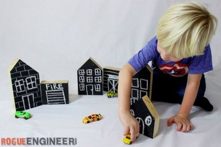 s turn anything into a chalkboard with these 13 creative ideas, Cut wood into cute chalkboard play pieces