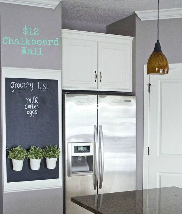 s turn anything into a chalkboard with these 13 creative ideas, Paint a piece of your wall