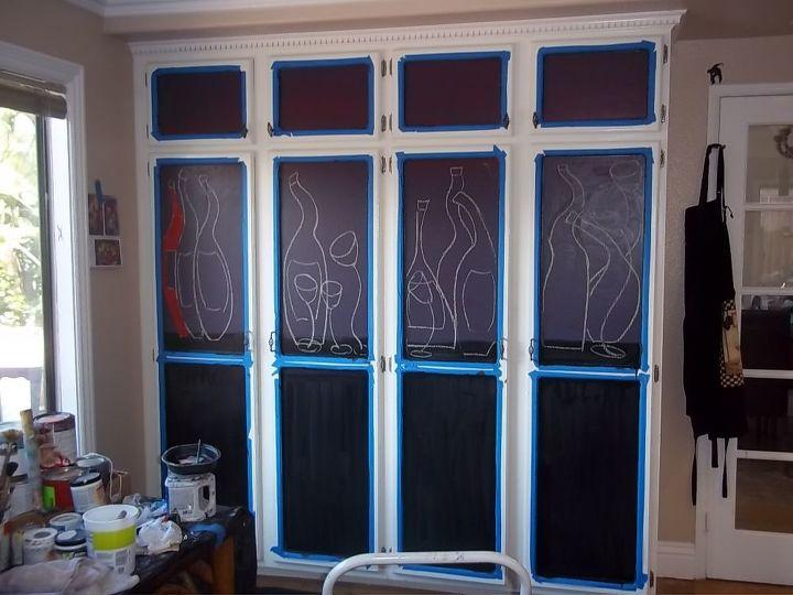 DIY Kitchen Pantry Door Mural | Hometalk