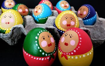 Easter Craft: How to Paint Babuska Eggs