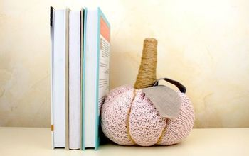 diy bookend door stopper from old sweater