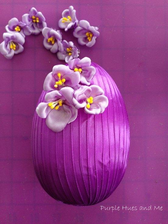 decorative ribbon easter egg diy
