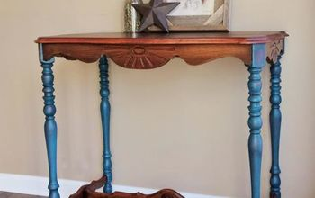 restored and refinished entry table