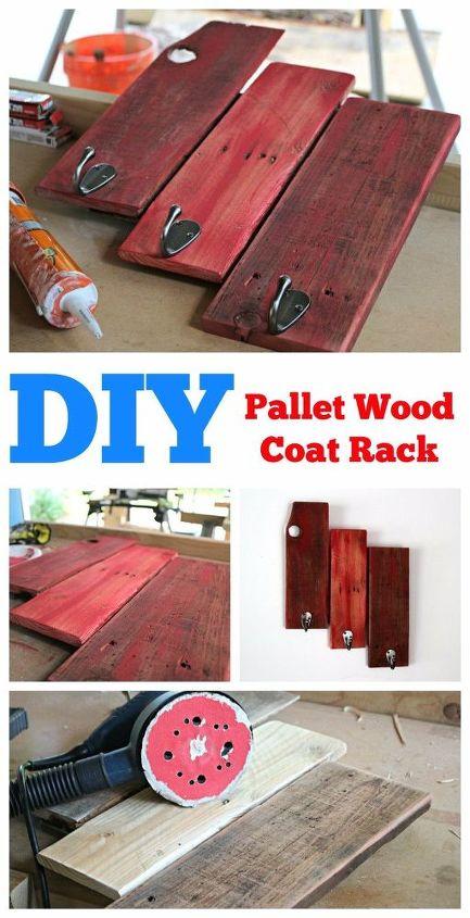 simple pallet coat rack