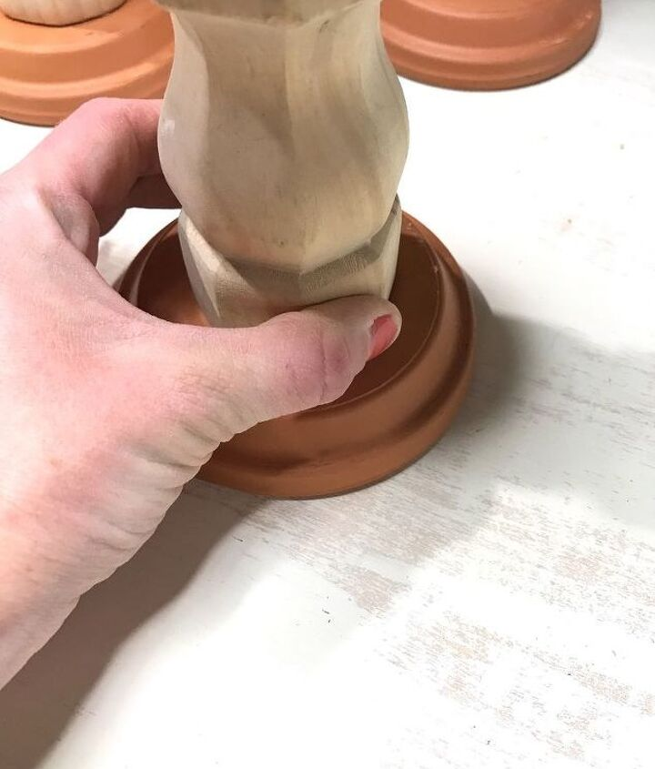 table leg candle holders