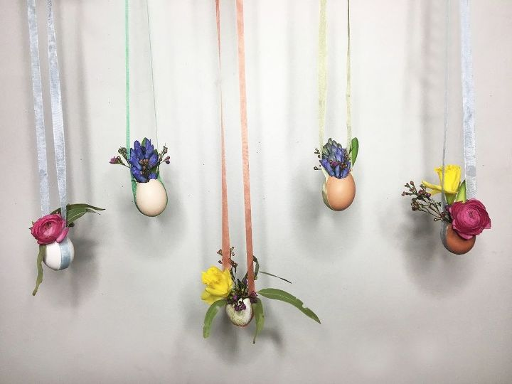 hanging egg vases