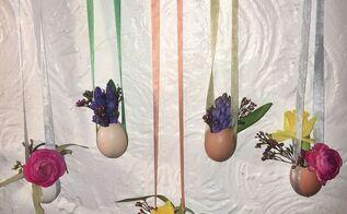 hanging egg vases