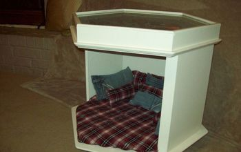 Masculine Pet Bed, End Table, Makeover