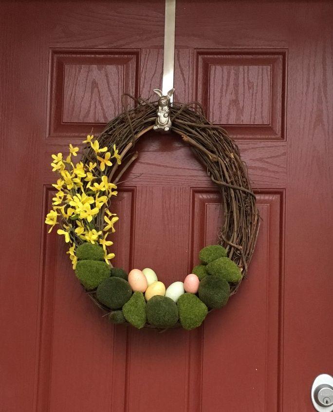 e pottery barn inspired easter wreath, Margita s Barn 0