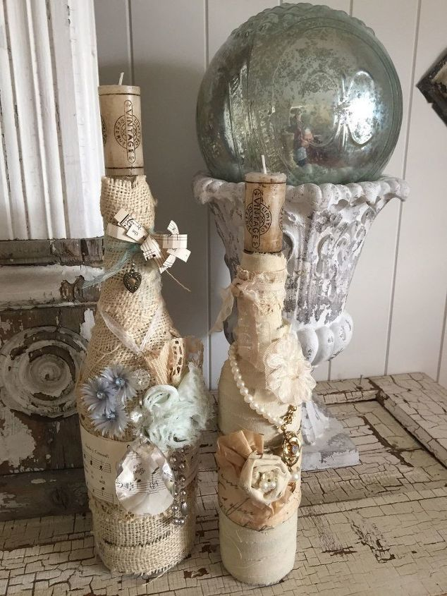 e save old jewelry for a fun way to dress up a bottle
