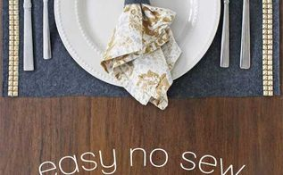 quick and easy no sew placemats