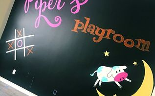 how to paint a faux chalk wall playroom mural