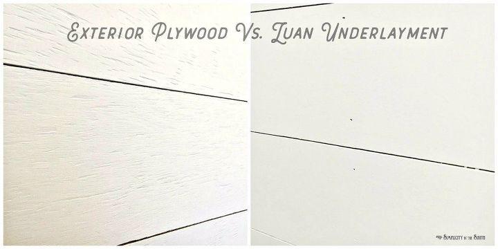 shiplap walls 5 reasons to use cdx plywood vs luan underlayment hometalk. Black Bedroom Furniture Sets. Home Design Ideas