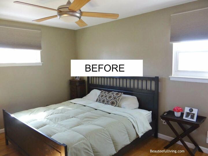 Master Bedroom Makeover After: Bedroom Makeover - Plain Jane To Glam!