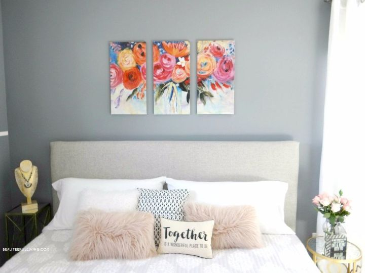 master bedroom makeover plain jane to glam