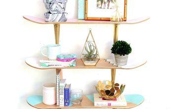 DIY Skateboard Deck Shelf Upcycle