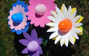 Plastic Easter Egg Flowers