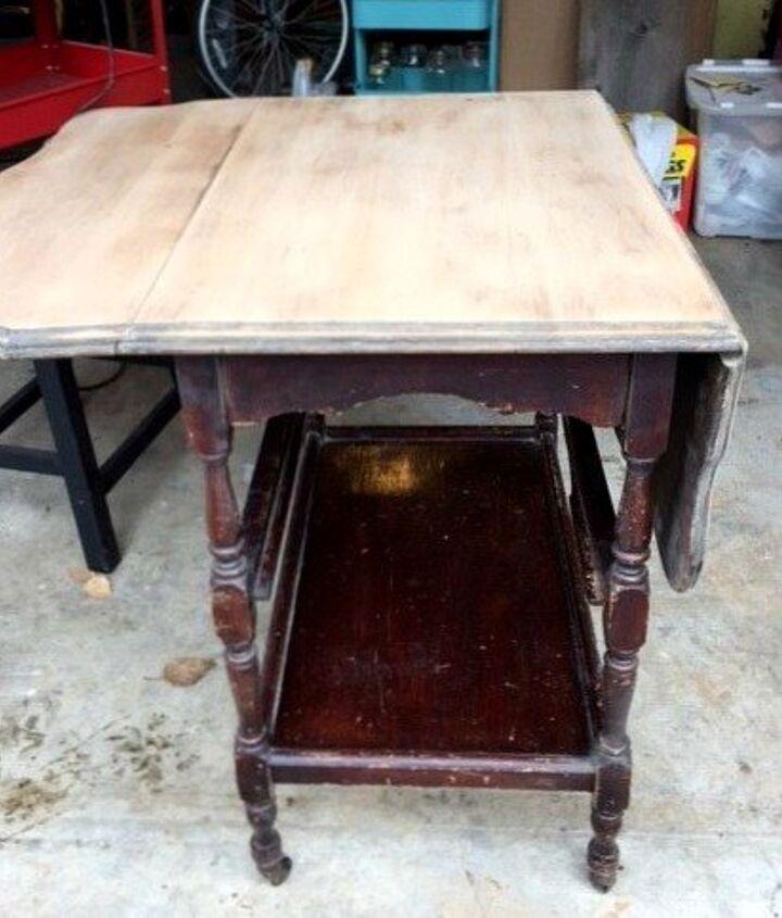 Updating An Antique Drop Leaf Table Into A Tea Or Bar Cart Hometalk