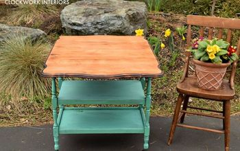 Updating an Antique Drop Leaf Table Into a Tea or Bar Cart.