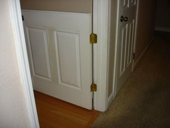 how to cut open a door