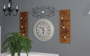 easy decor changes fixer upper style, The wrought iron scrolls after