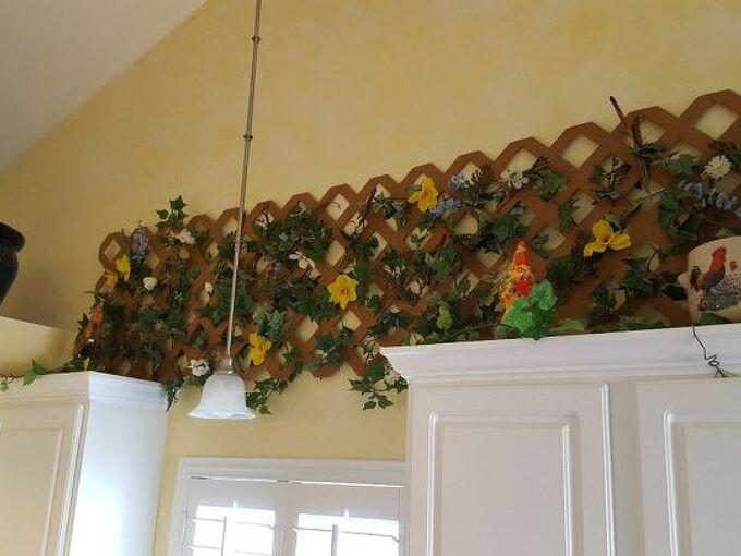 lattice kitchen country decor