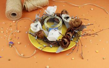 DIY Crepe Paper Flower Table Decoration