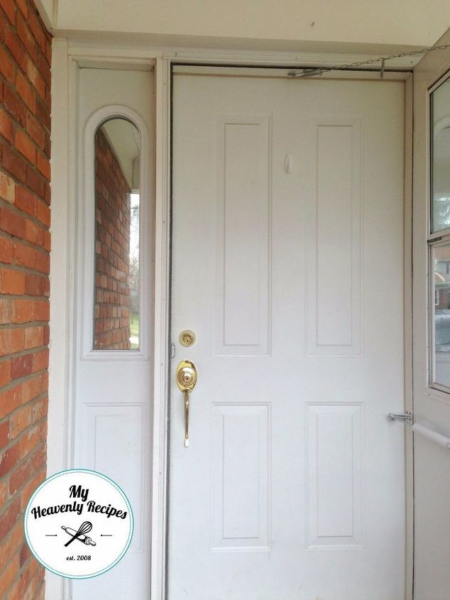 Boring White Front Door Gets A Face Lift Hometalk