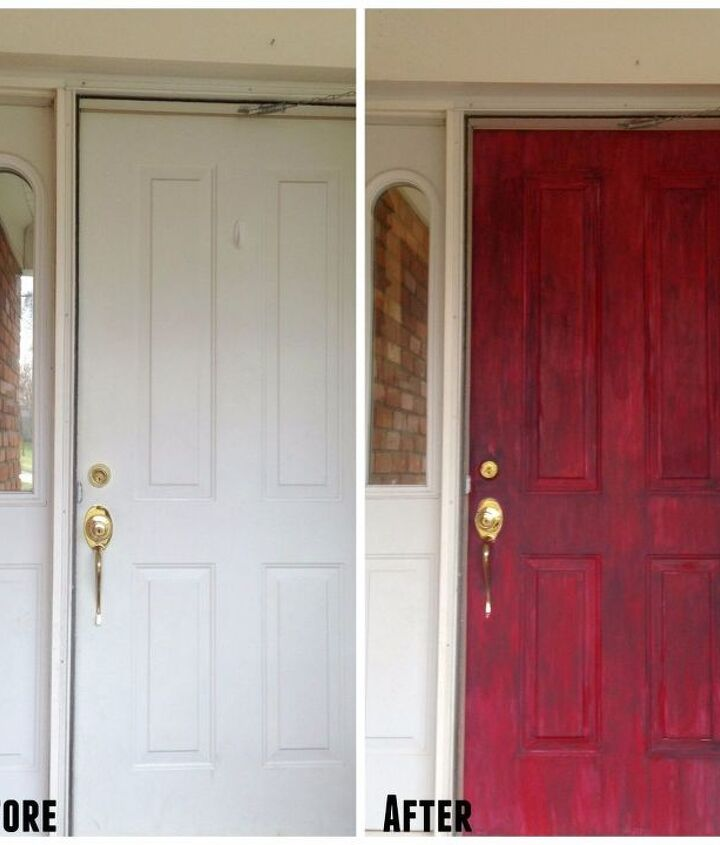 boring white front door gets a face lift