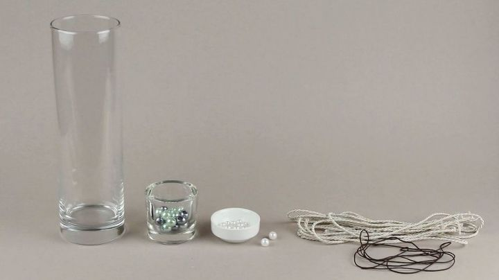 diy glass vase rope and beads decoration