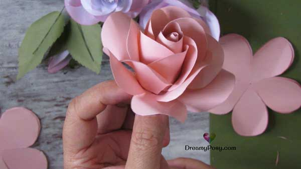 How To Make Easy Paper Rose Free Template Hometalk