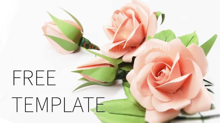 easy to make realistic rose free template