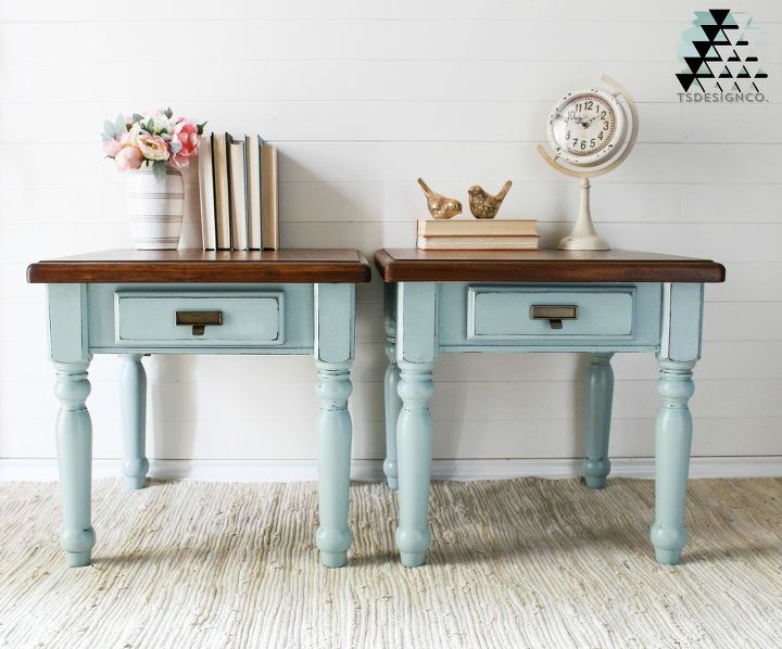 rustic industrial style end tables in elegance