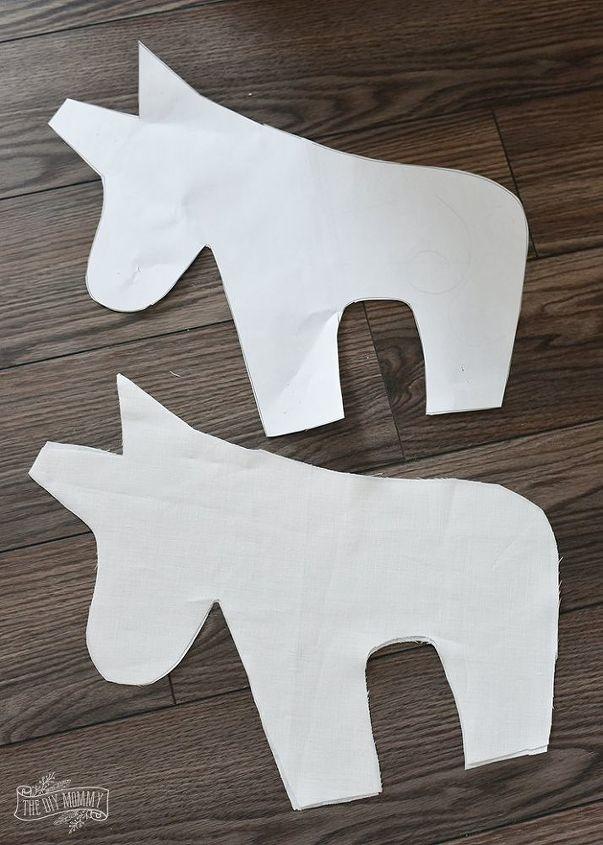 make a unicorn plush pillow