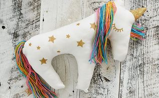 make a unicorn plush pillow