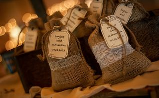 vintage rustic diy wedding decor, Wedding Favors filled with Coffee